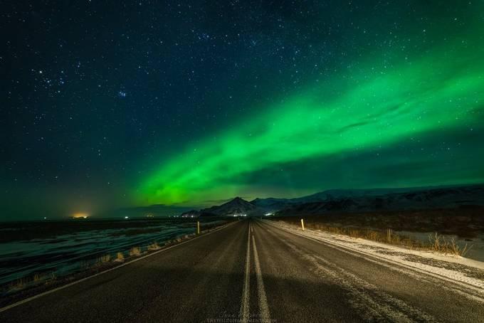 Aurora road by wildlifemoments - Straight Roads Photo Contest