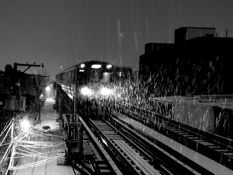 Taken at the western blue line stop with my phone and edited with the photo editor pro app