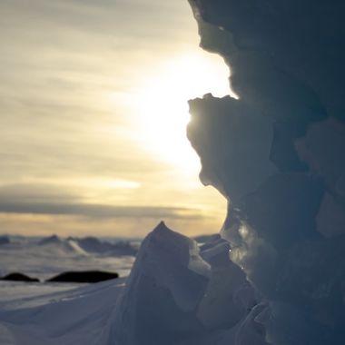 Midnight Sun over the Pressure Ridges