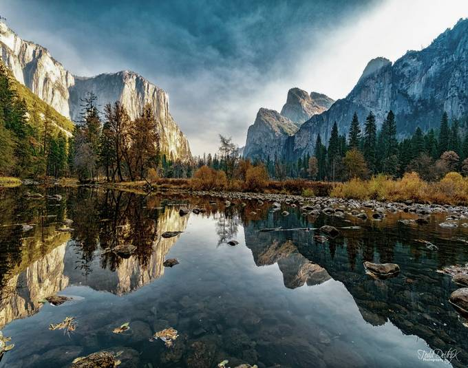 El Capitan & Three Brothers on the Merced River, Yosemite by tdeitrick - Creative Landscapes Photo Contest vol3