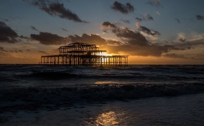 Sunset at the West Pier, Brighton, East Sussex