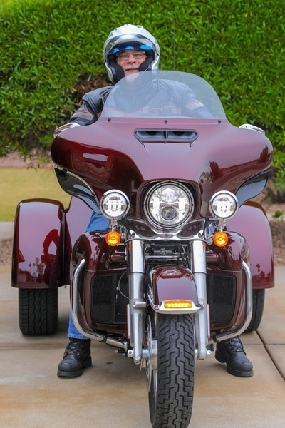 Harley trike - front view