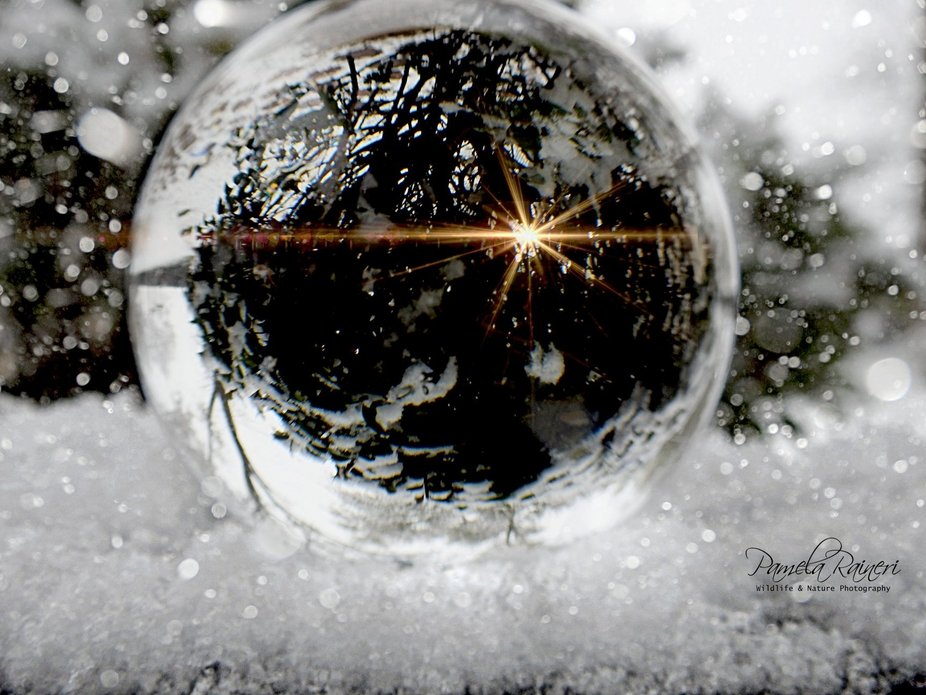 I was trying out tge photography globe.  Not to great at it yet.  Lol