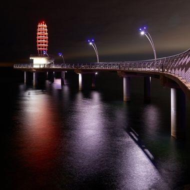 Brant Street Pier after Dark