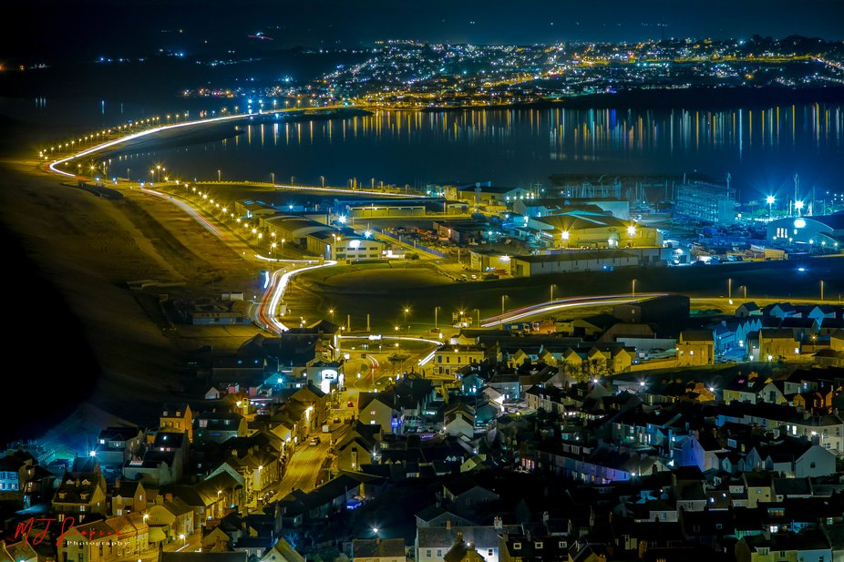 I have often wanted to take this image, of how nice it looks at night from the top of Portland Do...
