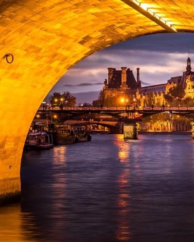 Pont Des Arts from Pont Neuf, Paris