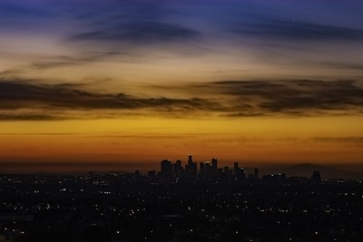 Downtown Los Angeles At Sunrise