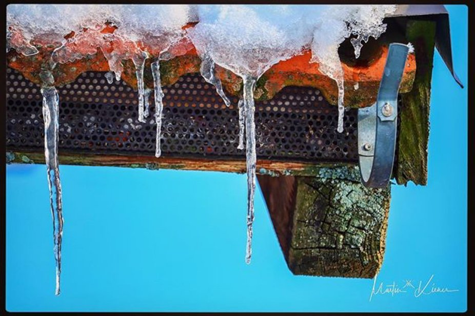 Icicles On The Stable-Roof
