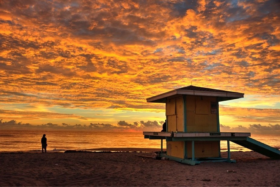 Sunrise at Hollywood Beach