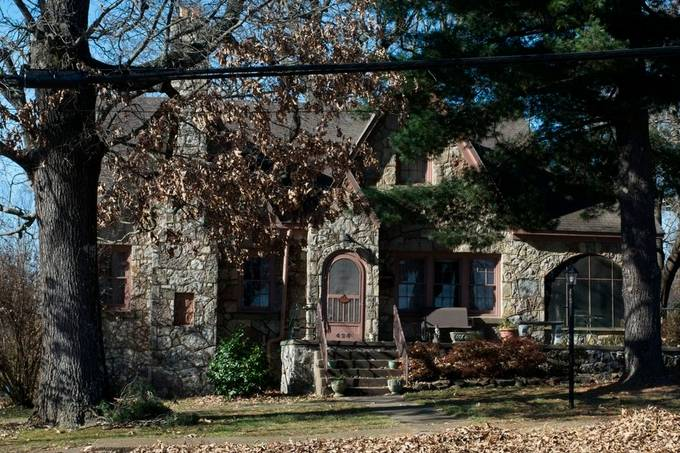 My grandfather was a stone mason.  I developed a sense of fine work.  I don't know who did this work, but is typical of many homes in the Ozarks, and is an excellent example.
