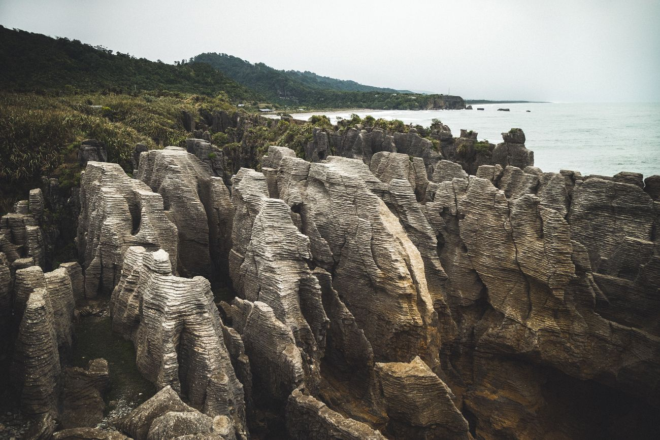 The best spot of the pancake rocks in Punakaiki.