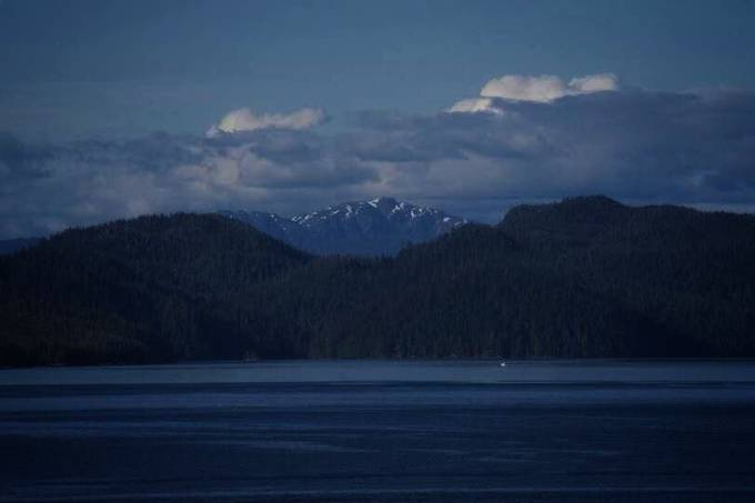 Canadian shoreline during cruise from Alaska