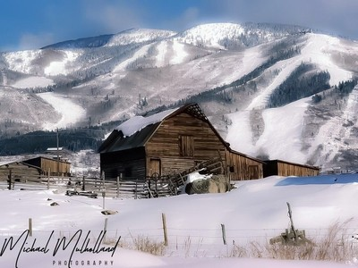 Old Barns and Cabins in the Snowy Mountains