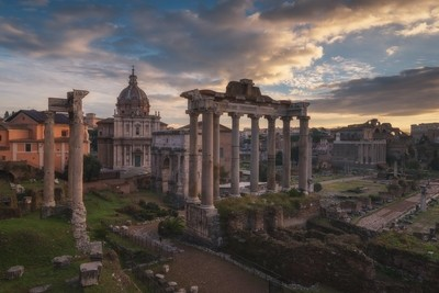 Sunrise at Fori Imperiali