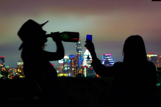 A night off. by emilystults - Bright City Lights Photo Contest