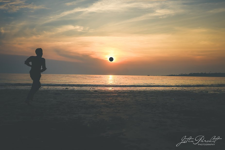 Shot this picture during the golden hour by the beach. it was that perfect moment that I waited f...