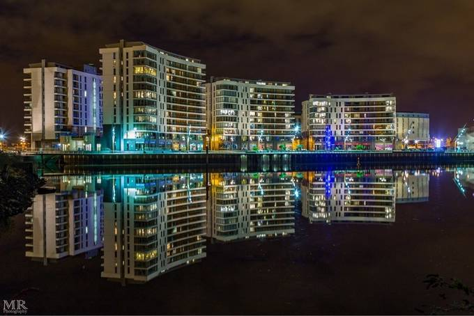 Belfast Titanic Quarter Arc Apartments.  by MR_Photo_Ire - Bright City Lights Photo Contest