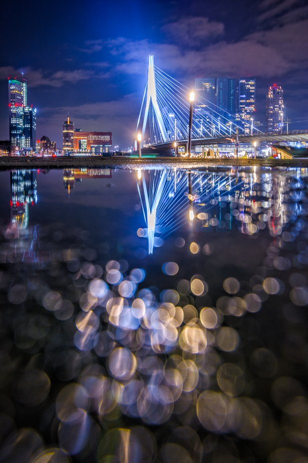 Rotterdam Puddlegram by martijnvdnat - Bright City Lights Photo Contest