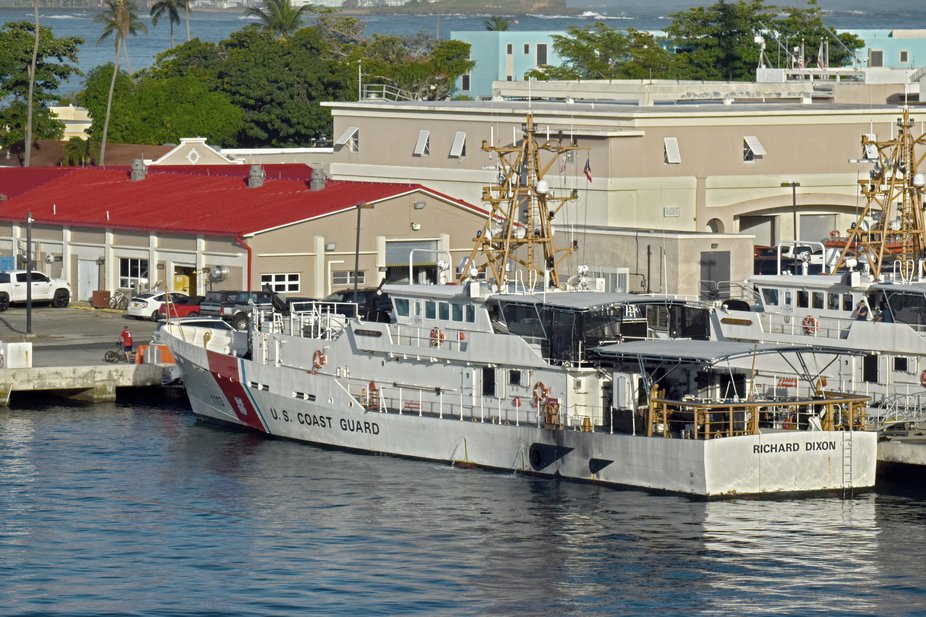 US Coast Guard Cutter Richard Dixon birthed in San Juan Coast Guard station Puerto Rico.