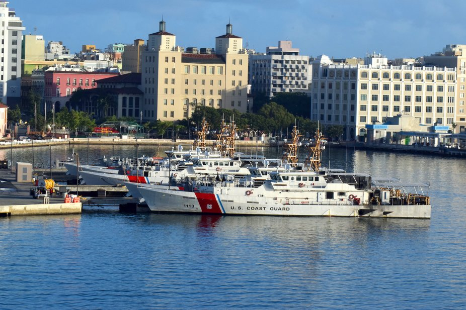US Coast Guard Station San Juan harbour Puerto Rico .