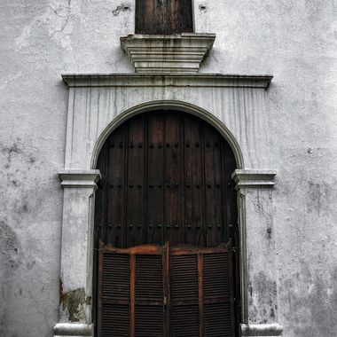 San Jose Church in Old San Juan Puerto Rico was built in 1532 it is also on the 11 Most Endangered Places in 2013, this is the main entrance