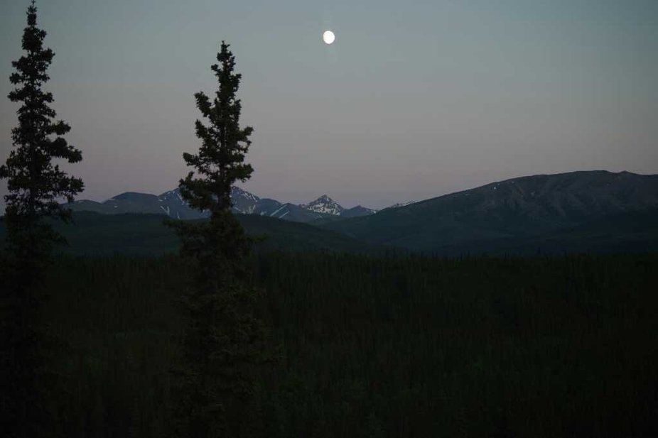 Land of the midnight sun, Alaska during summer