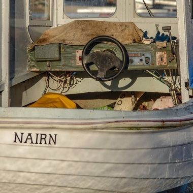 tied up at Nairn harbour