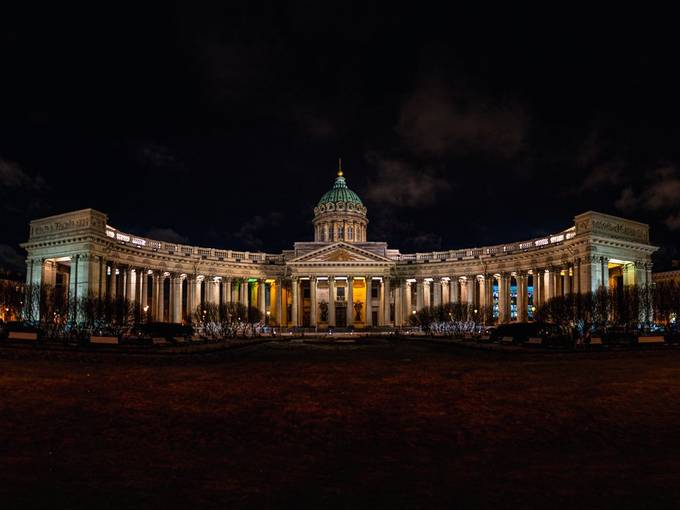 Kazan Cathedral by MOZEL - Bright City Lights Photo Contest