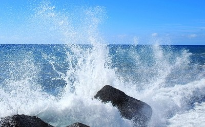 Rocks and water, atlantik, La Palma