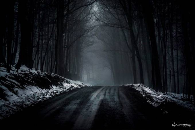 Foogy Backroad At Dusk by Drperry113 - We Love The Winter Photo Contest