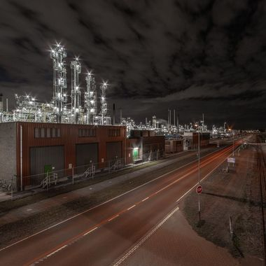 Industrial area of Botlek, near Rotterdam. Gives a possibility to make almost abstract game like shots.