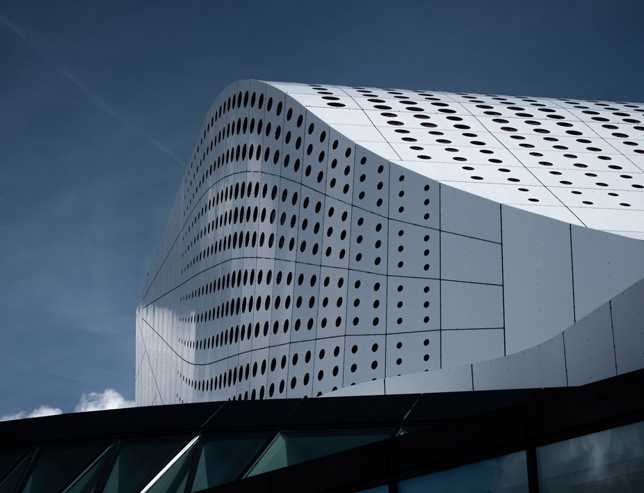 Great facade of a theater in Spijkenisse (South Holland).