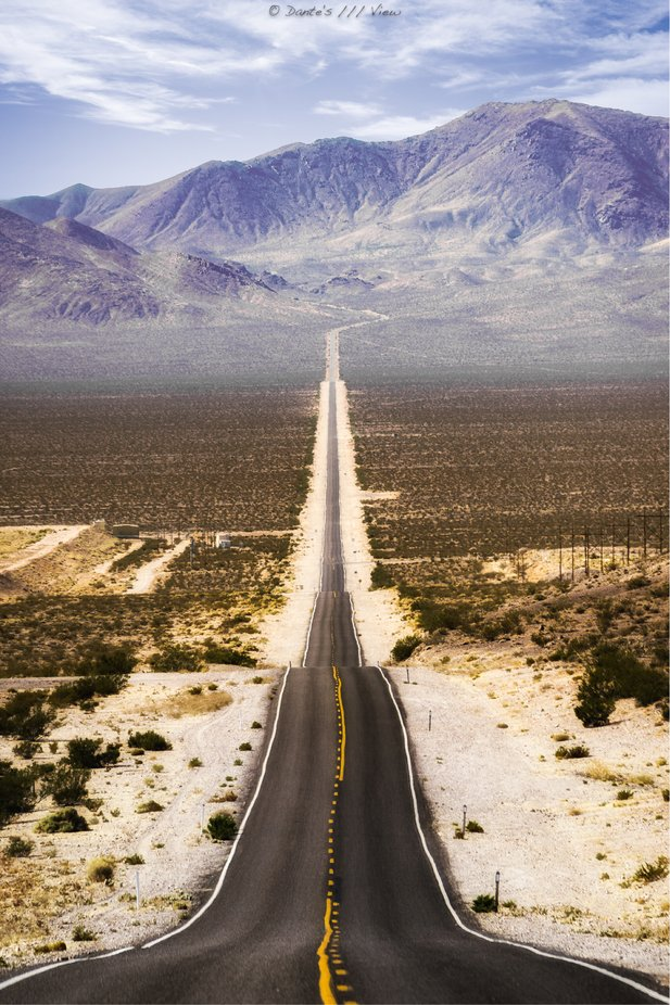 Road To Death (Valley) by Dantes_View - Straight Roads Photo Contest