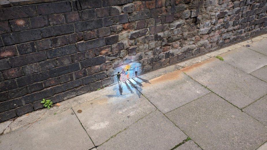 Miniature street art near Columbia Roag market
