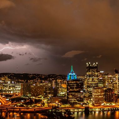 Storm Moving over the City of Pittsburgh.