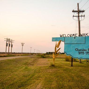 Wakita Oklahoma where the movie Twister was filmed.