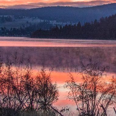 Stump Lake is between Kamloops and Merritt on the old hIghway