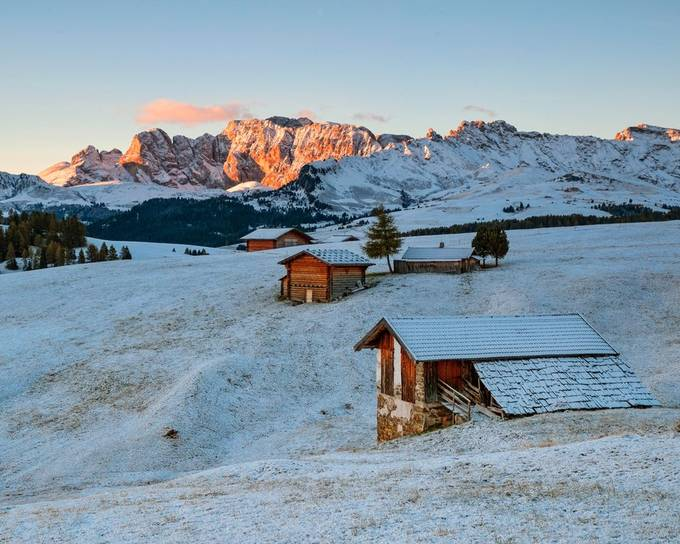 Sunrise in the Dolomites by lddove - We Love The Winter Photo Contest