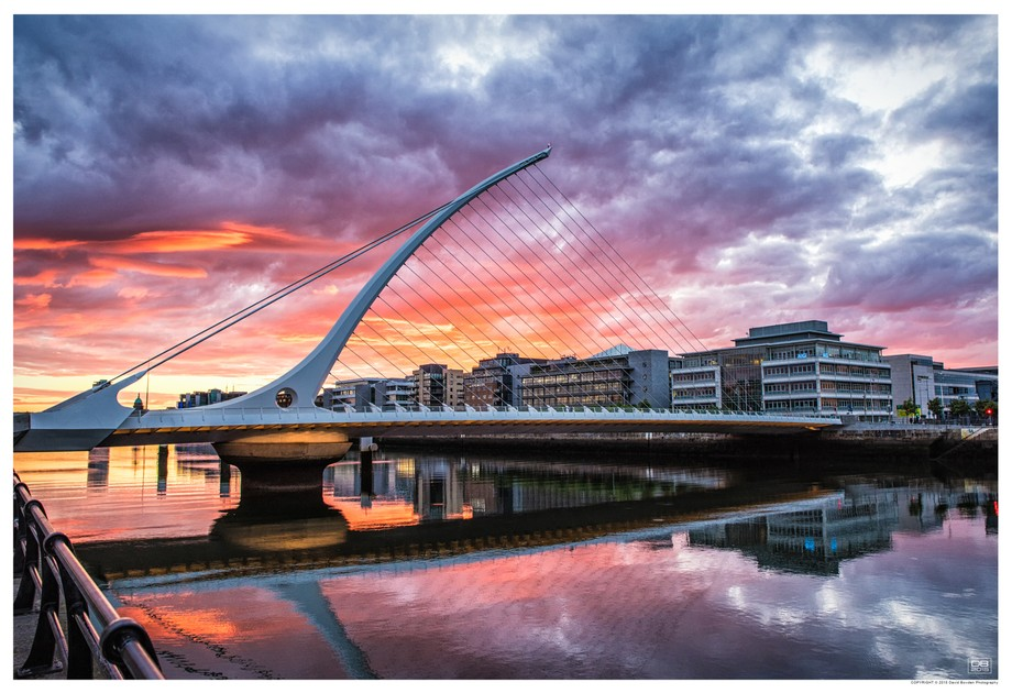 Samuel Beckett bridge, Dublin, Ireland - 2015