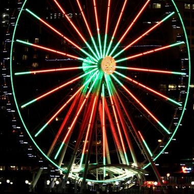 The Seattle Great Wheel - close-up