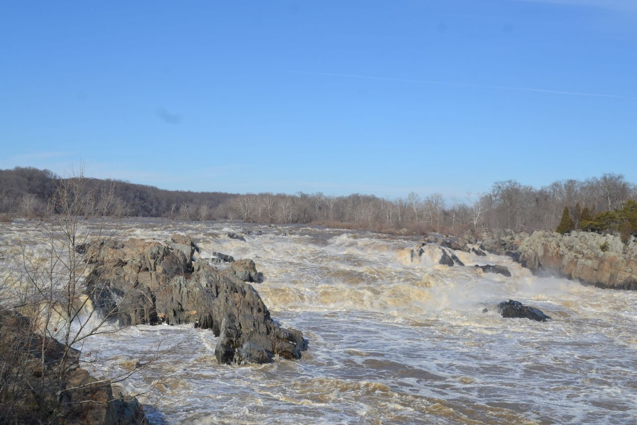 Great Falls in ice and snow