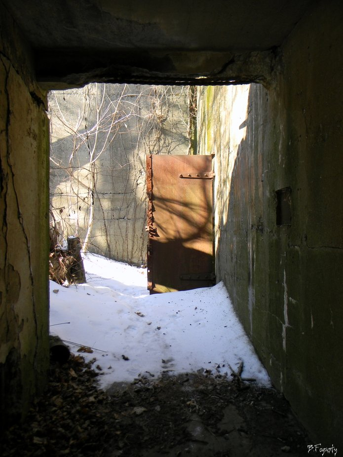 Passage way in an old Fort.