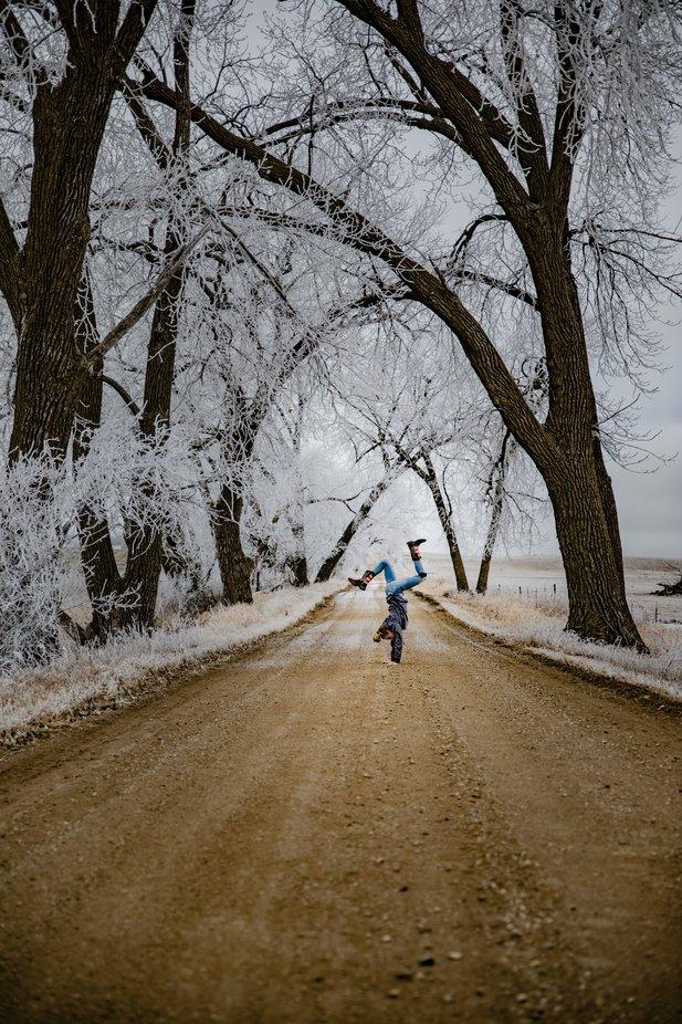 Winter Joy by FruitCocktailCreative - Winter Roads Photo Contest