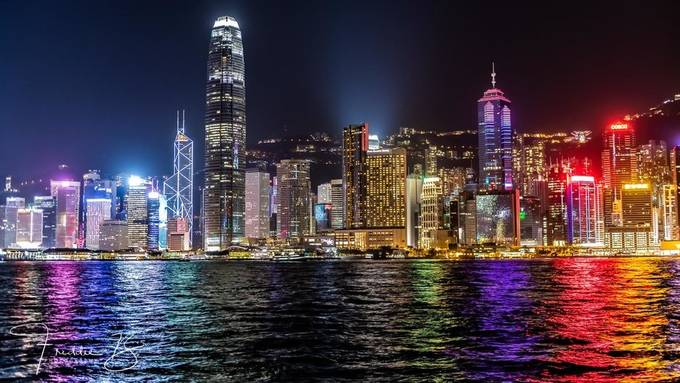 Hong Kong Island by Freddie-B - Bright City Lights Photo Contest