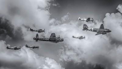 Battle of Britain Memorial Flight - Trenchard Formation