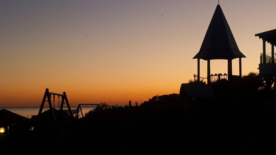 Sea sun set Hammamet Bay