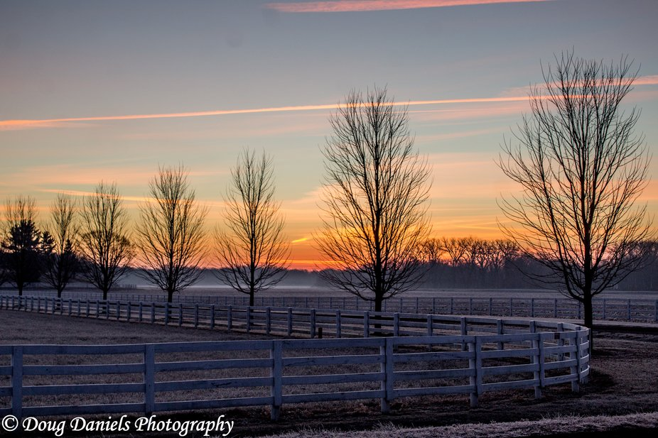 Sunrise in Tazewell County, Illinois/USA