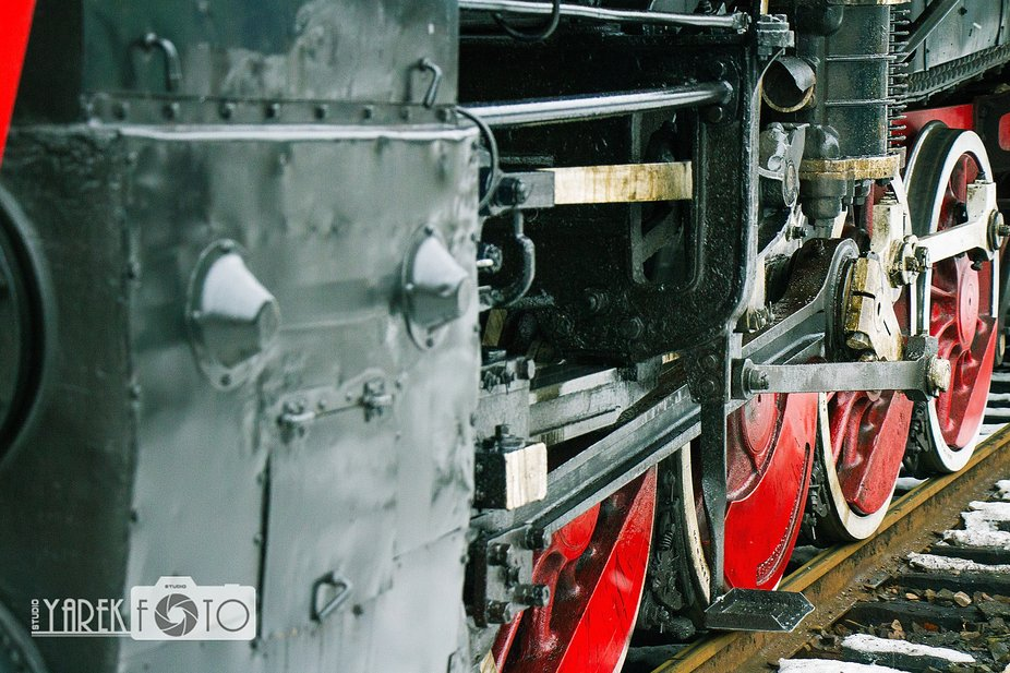 """Old locomotive of the """"E"""" series 3"""