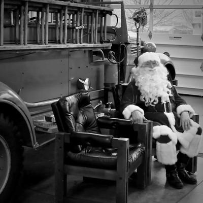 Santa at the firehall, Carlton Fire Dept