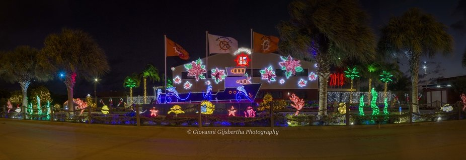 Panorama of Christmas Ligths @ Don Andres Bonaire